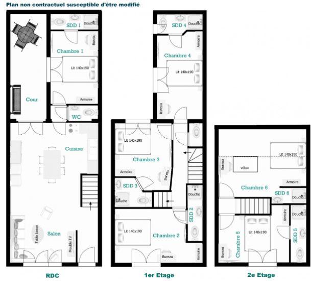 plan maison colocation